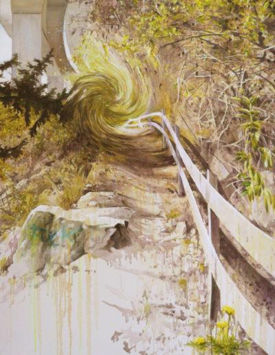 CRUX, 2010.   Acrylique sur toile  220 x 120 cm