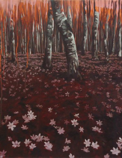ACIDE, 2010. Huile sur toile. 60 x 60 cm