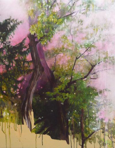 AMER, 2010.  Huile sur toile.  80 x 80 cm