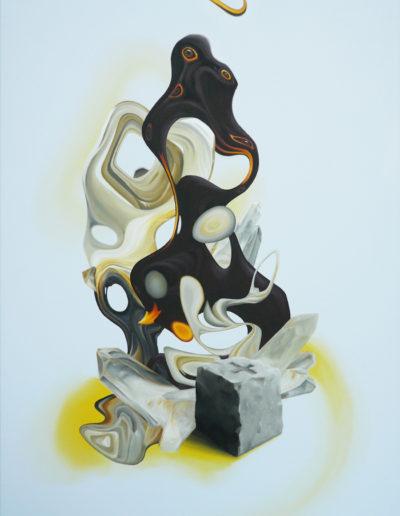 BASSINER, 2011. Huile sur toile       120x75 cm