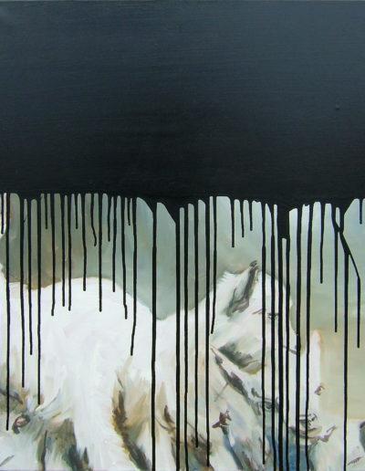 CHEVRAUX, 2006. 90 x 60 cm  huile sur toile.