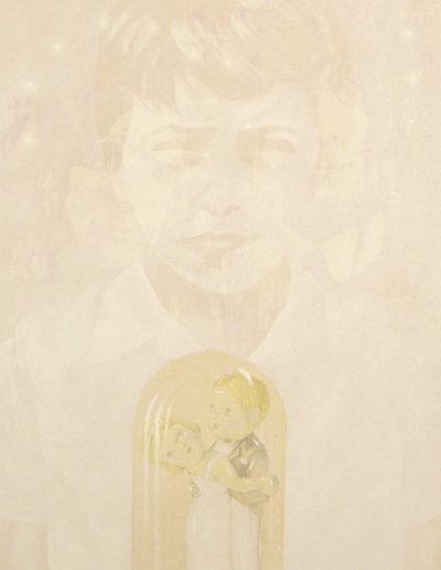 LA COUSINE, 1998. Huile sur toile 110 x 80 cm.