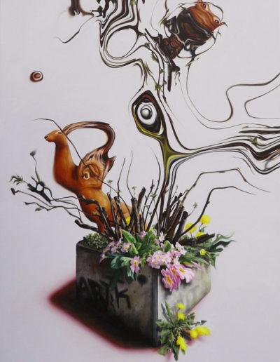 DEBOURRER, 2011. Huile sur toile       120x75 cm