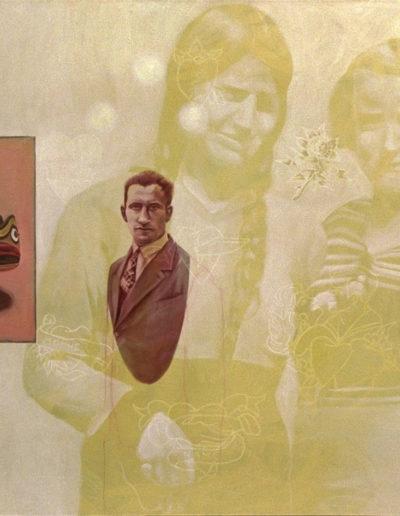 ELLES, 1998. Huile sur toile 110 x 150 cm.