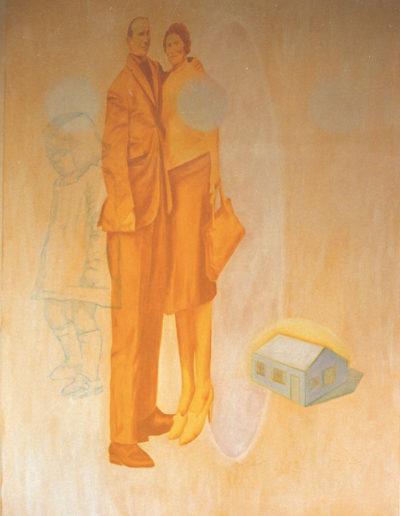 EUX, 1998. Huile sur toile 150 x 110 cm.