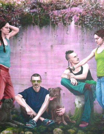 ET IN ARCADIA EGO, 2008  220 x 300 cm. Huile sur toile.
