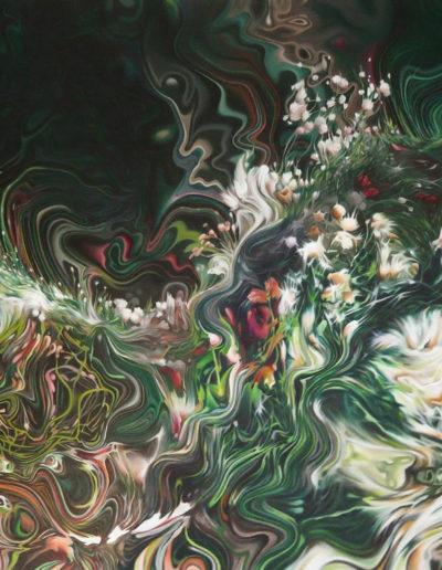 FUMER, 2010. Huile sur toile       120x150 cm