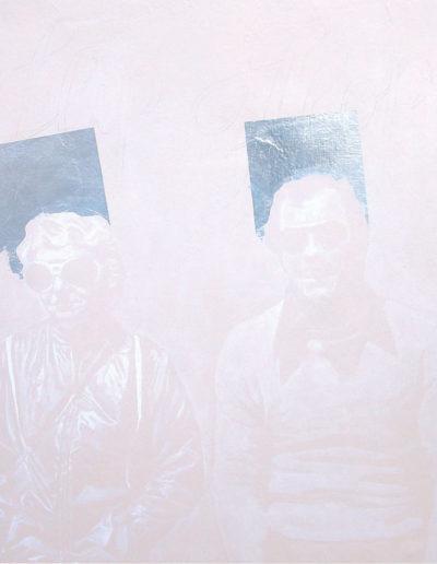 FLIPFLOP, 2000. Huile sur toile 80 x80 cm