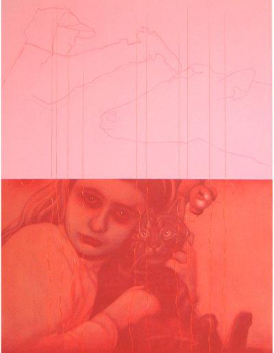 J.& L., 2001. Huile sur toile 110 x 80 cm.