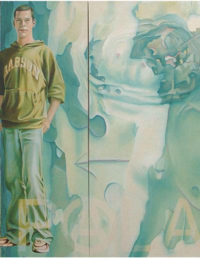 J.& S., 2003. 130 x 210 cm  huile sur toile.