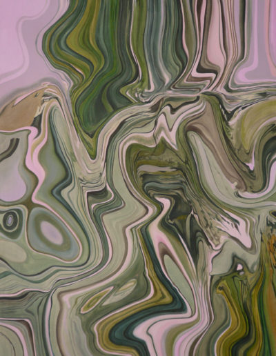 CHAMOIS, 2008  220 x 120 cm. Huile sur toile.