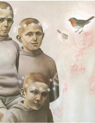 NTM, 2000. Huile sur toile 110 x 110 cm.