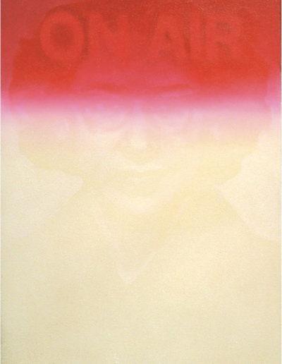 ON AIR, 1998. Huile sur toile 55 x 44 cm.