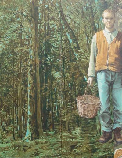 P, 2004. 150 x 220 cm  huile sur toile.