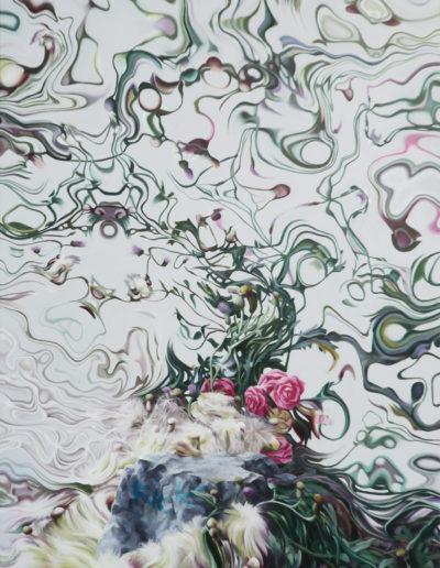 PINCER, 2010. Huile sur toile       120x75 cm