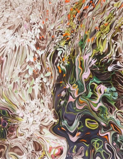 PLANTER, 2010. Huile sur toile       120x150 cm