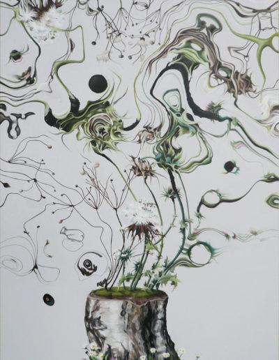 SCARIFIER, 2011. Huile sur toile       120x75 cm