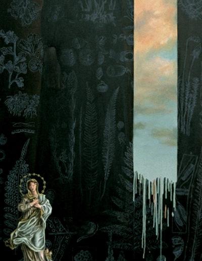 ELLE, 1997. Huile sur toile 200 x 80 cm.