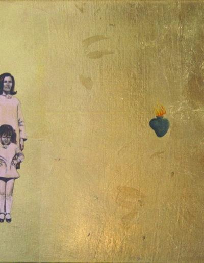ON, 1997. Huile et feuille d'or sur toile 37 x 46 cm.