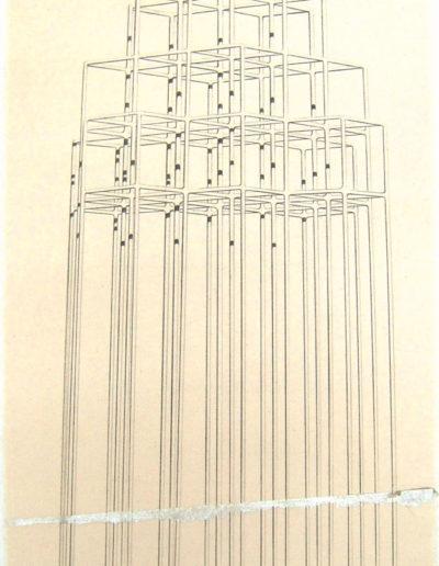 PLEIN AIR (pyramide),  86 x 42 cm.