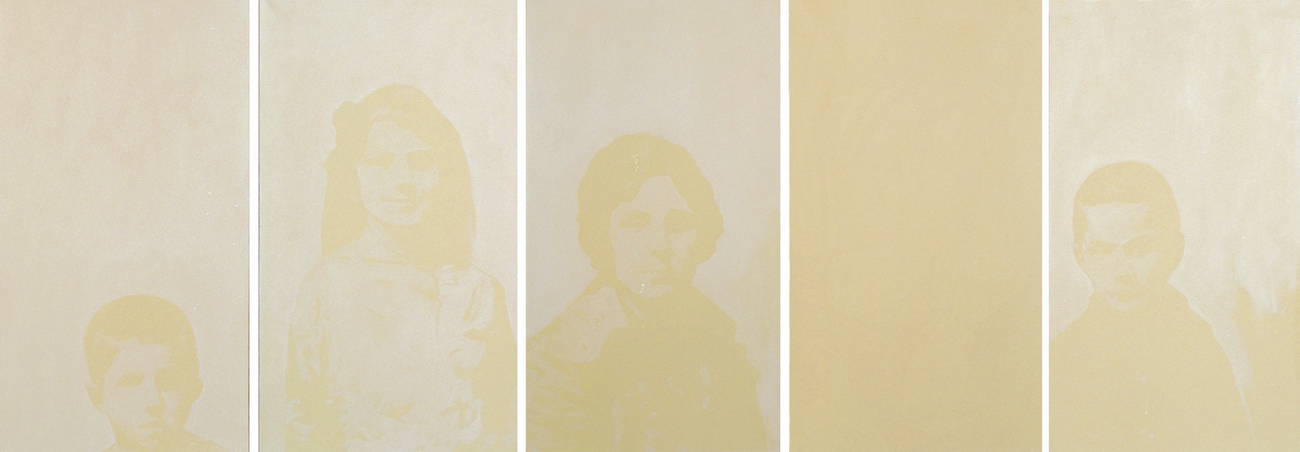 SANS TITRE, 1997. Huile sur toile 110 x 225 cm.