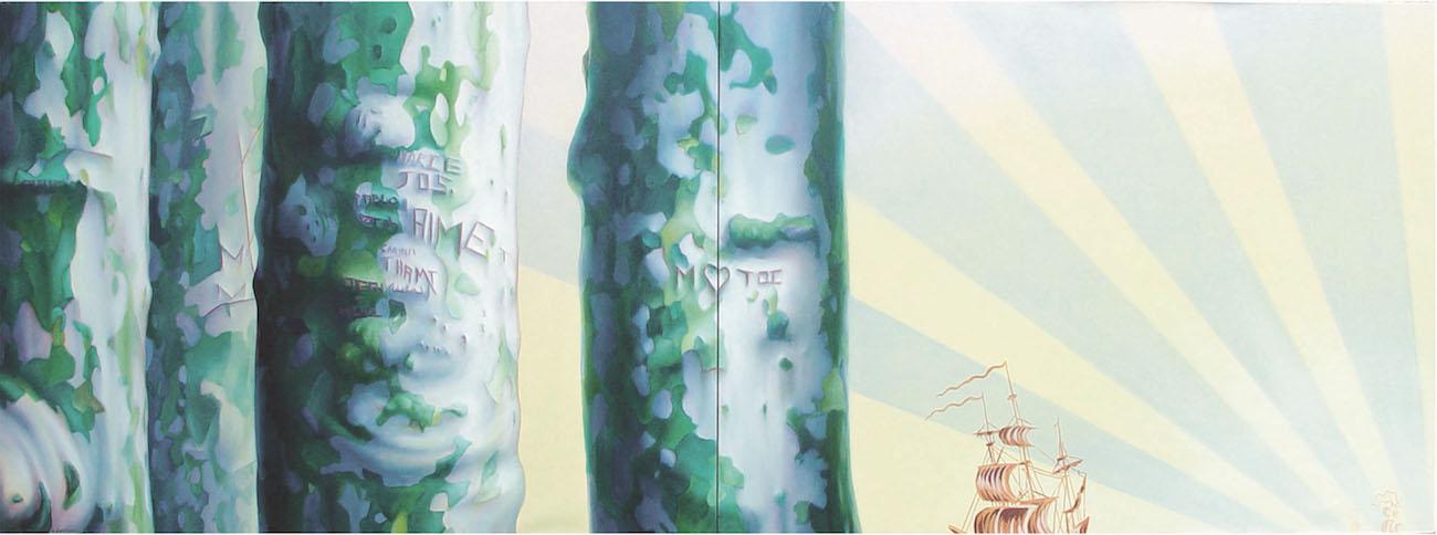 LOST, 2004. 80 x 220 cm  huile sur toile.