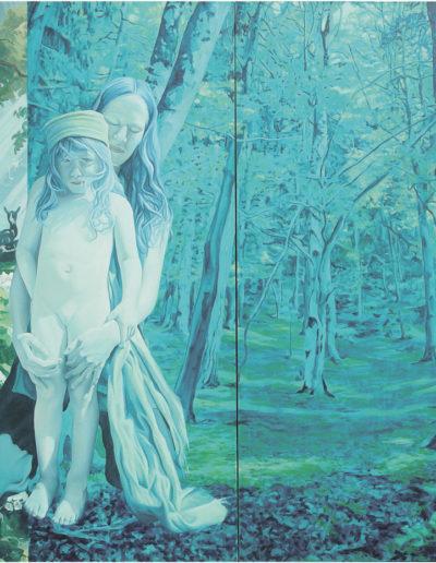 S.& A., 2003. 150 x 210 cm  huile sur toile.