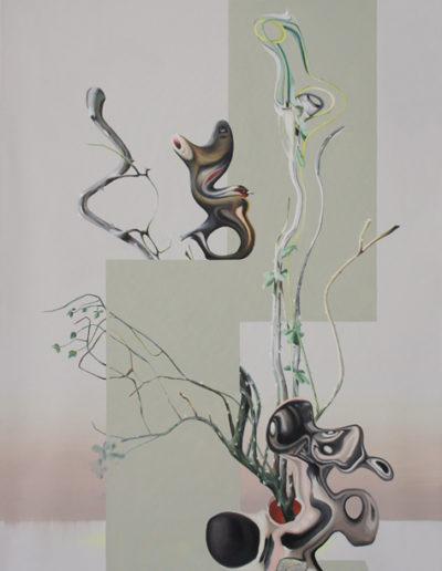 DEFRICHER, 2013. Huile sur toile 120x75 cm